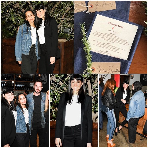 "21 Mars 2018 - Shailene Woodley et Zoë Kravitz étaient au Bruna Papandrea's event to launch her production company ""Made Up Stories"" à LA"