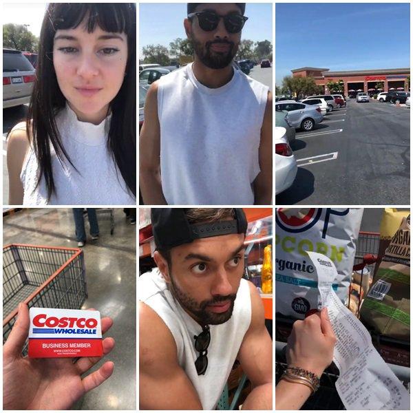 31 Mars 2018 - Shailene Woodley et Ben Volavola ont fait des courses à Los Angeles