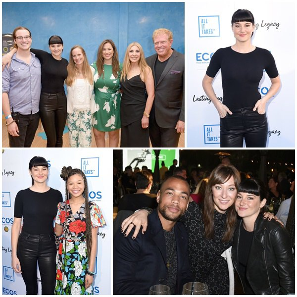 """28 Avril 2018 - Shailene et Lori Woodley était au """"All It Takes"""" Lasting Legacy event to celebrate youth leadership"""