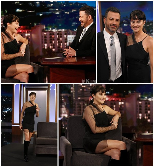 23 Mai 2018 - Shailene Woodley était à l'émission Jimmy Kimmel Live!