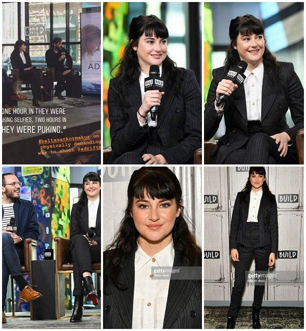 29 Mai 2018 - Shailene Woodley était à New York pour promouvoir #AdriftMovie