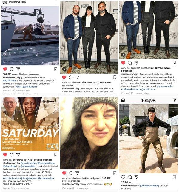"""1er Juin 2018 - Shailene était à l'émission """"the talk"""" pour promouvoir son film """"Adrift"""""""