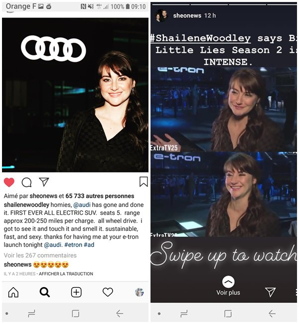 17 Septembre 2018 - Shailene Woodley, Olivia Wilde, Armie Hammer et Alexander Skarsgard étaient au the release of the new Audi e-tron electric SUV