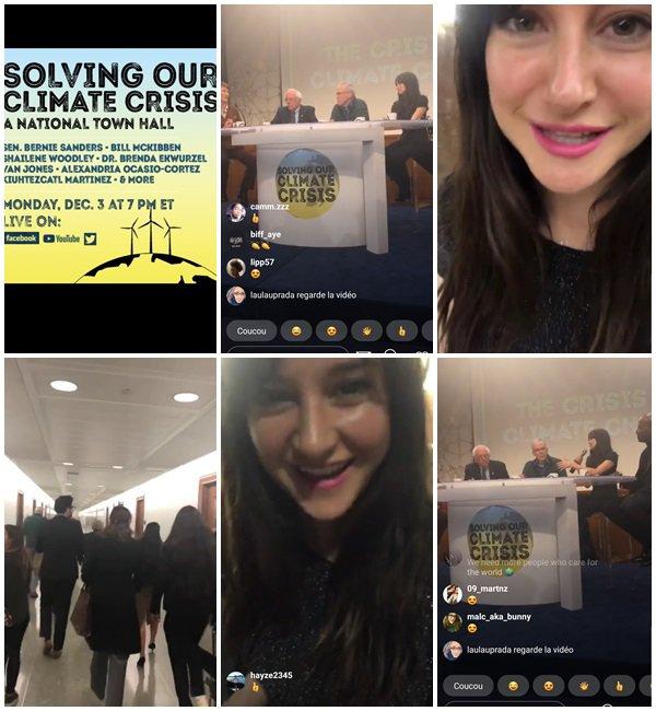 """3 Décembre 2018 - Shailene était à la convention sur le climat """"Solving Our Climate Crisis A National Townhall"""""""