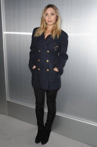 Elizabeth Olsen au défilé chanel