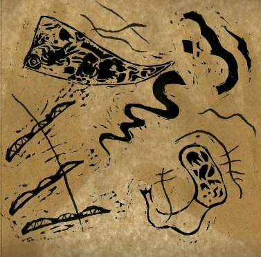 Hommage à Kandinsky-Linogravure