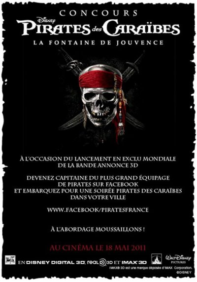 NEWS [Concours Pirates Des Caraïbes 4]