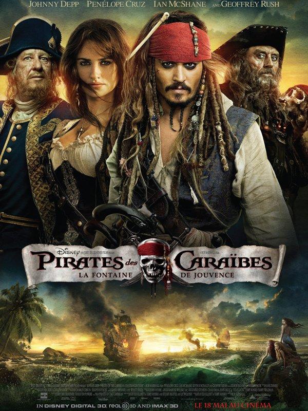 Affiche Pirates des Caraïbes 4