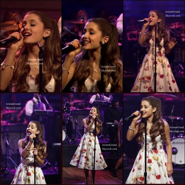 14/06/2013 : Ariana a donnée    une performance chez « Late Night with Jimmy Fallon »    avec le titre The Way     .