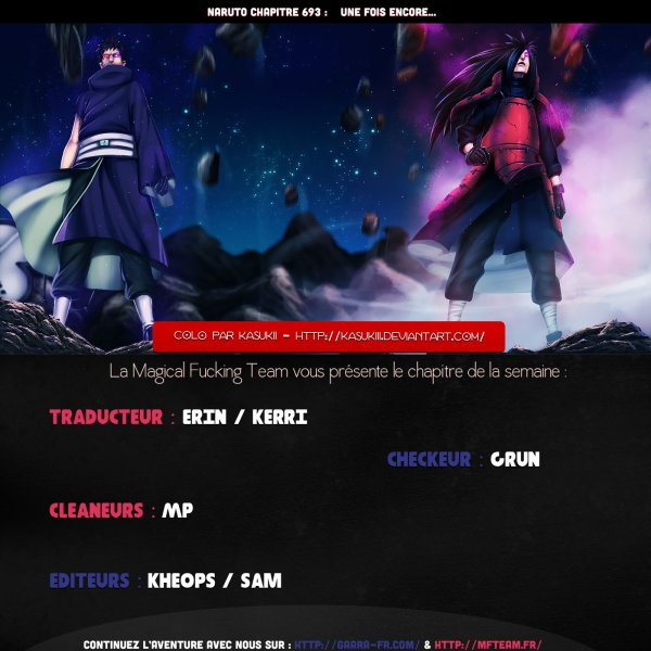Naruto chapitre 693 : une fois encore