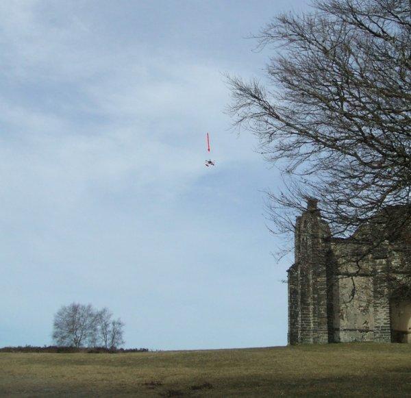 Un drone visite la chapelle du Mont-Gargan