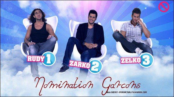 Zelko et Rudy sont nominés aux côtés de Zarko.