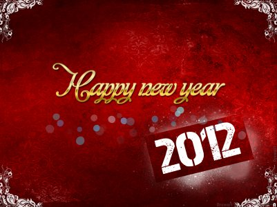 Bonne année 2012 à tous =)