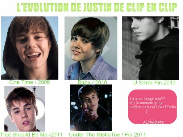 L'évolution De Justin De Clip En Clip - Le programme de Justin à Paris - Offres : )