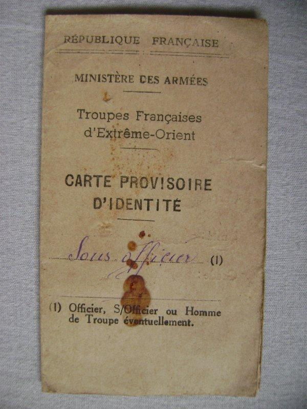 Carte d'identité militaire