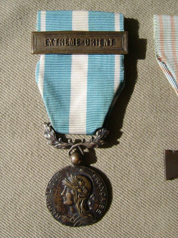Médailles vétéran d'Indo