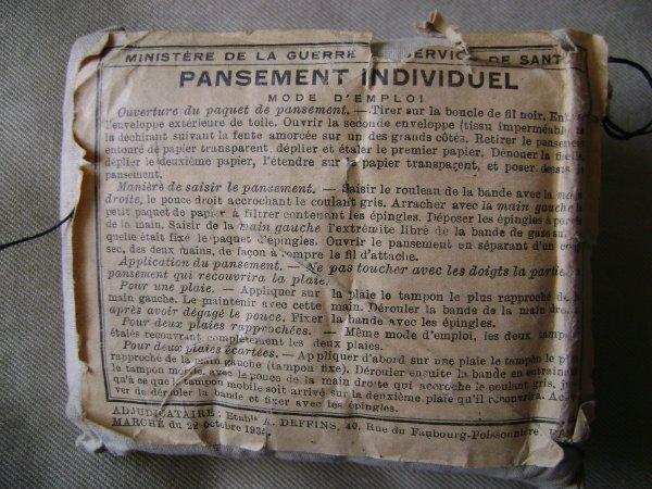 Pansements individuels français