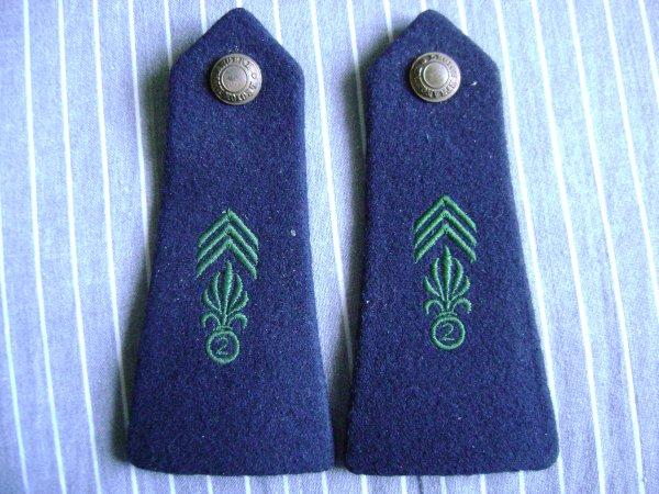 Epaulettes Légion Etrangere