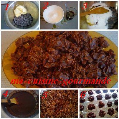 Rochers au chocolat (oui rochers pas roses des sables!!! ya un pb?)