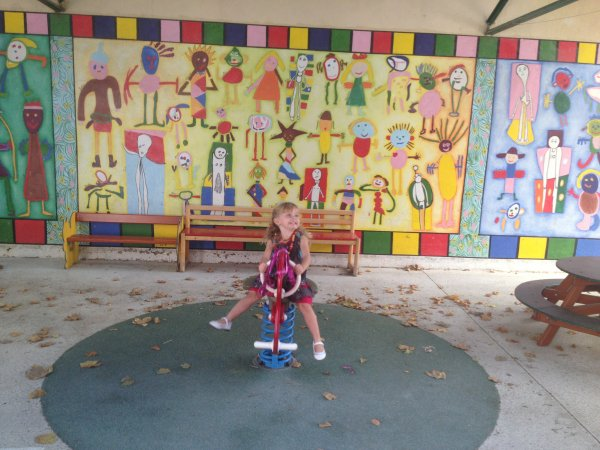 Sa 1ere rentrée des classes en Septembre 2013
