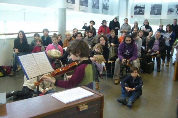 En ce dimanche matin, à la médiathèque l'Odyssée de Lomme, la musique a vaincu la neige