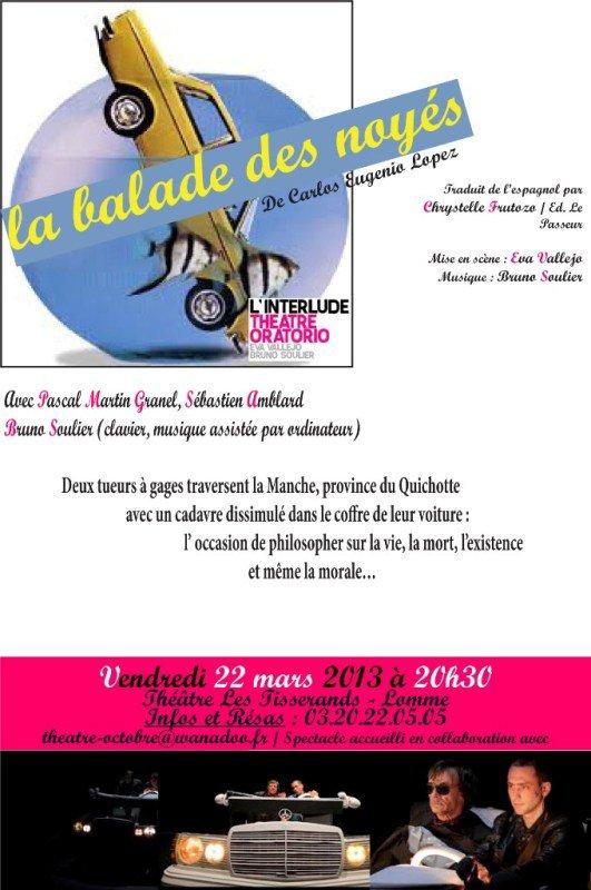 Prochainement au théâtre des Tisserands à Lomme : La balade des noyés
