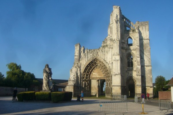 Les ruines de l'abbaye Saint-Bertin à Saint-Omer