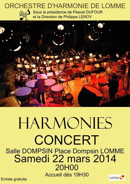 Concert de printemps de l'Orchestre d'Harmonie de Lomme