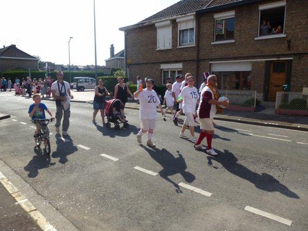 Carnaval de Lomme 2014 : le char du Comité de Quartier du Marais