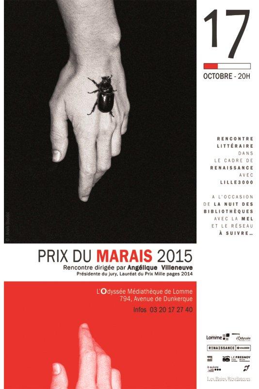 Le Prix du Marais 2015, avec la médiathèque l'Odyssée de Lomme, c'est bientôt !