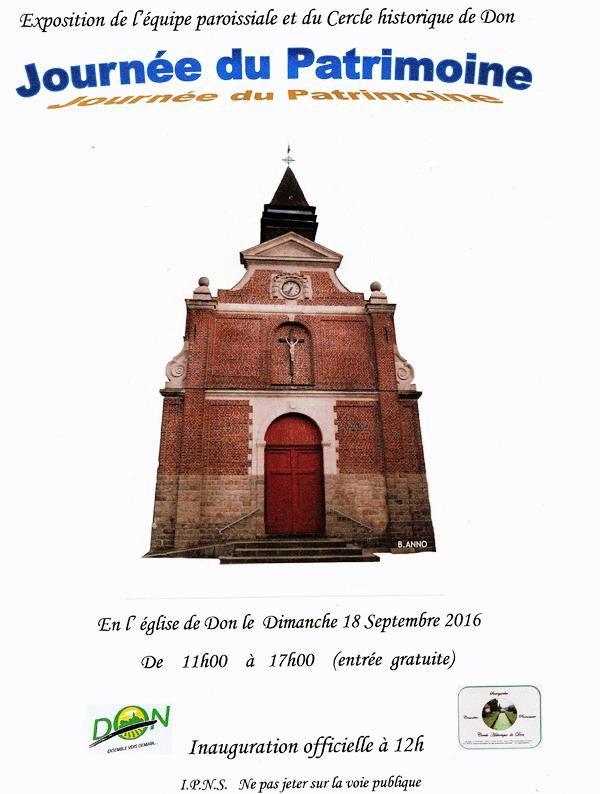 Les Journées européennes du Patrimoine 2016 à Don