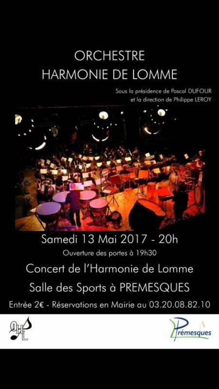 L'orchestre d'harmonie de lomme jouera à Prémesques samedi prochain