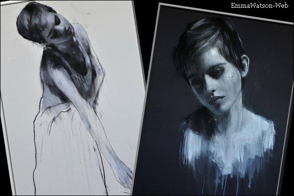 """29/05/2011 - Pour commencer Emma a été photographié alors qu'elle sortait d'un SPA. La tenue est simple mais c'est normal. Retrouvez ensuite une affiche promotionnelle pour """"Harry Potter et les Reliques de la Mort - Partie 2"""". Il est superbe ! Et pour finir retrouvez deux peintures d'Emma réalisé par Mark Demsteader. Ils sont superbes ! Votre avis ? :)"""