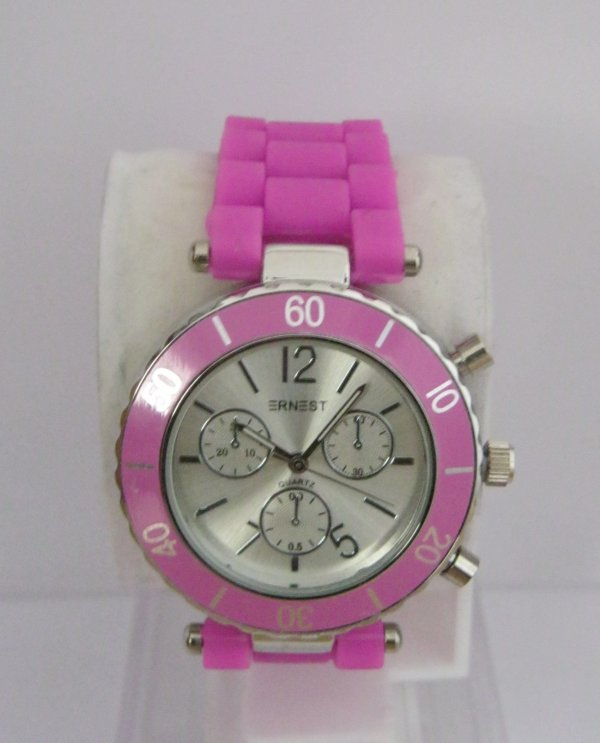 Montre Ernest silicone rose