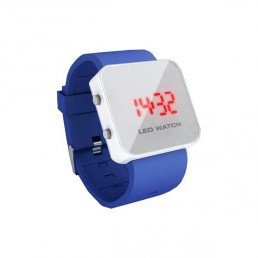 Montre led watch bleu