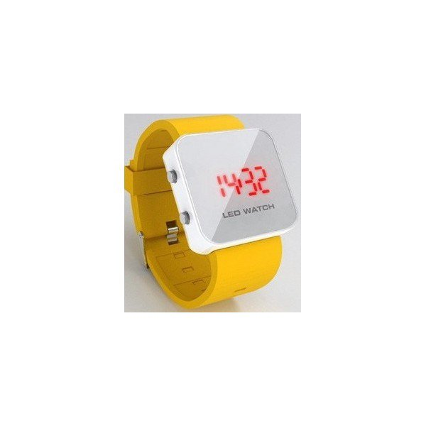 Montre led watch jaune