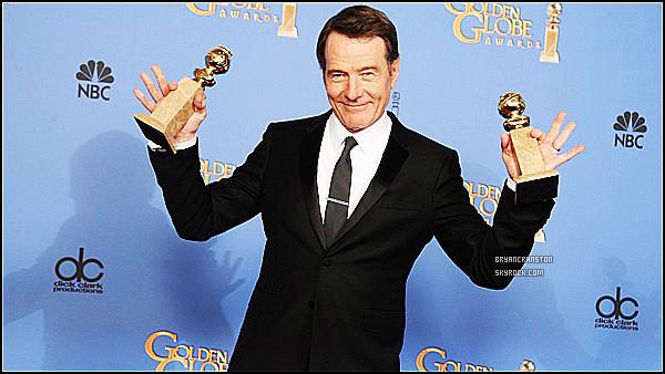 . Le 12 janvier 2014, Bryan prend la pose dans la salle de presse avec ses Golden Globe à l'hôtel Beverly Hilton, à Bervely Hills en Californie .