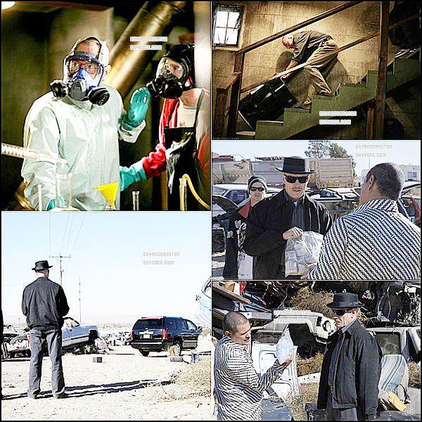 . Sur le tournage de la 1er saison de Breaking Bad ! .