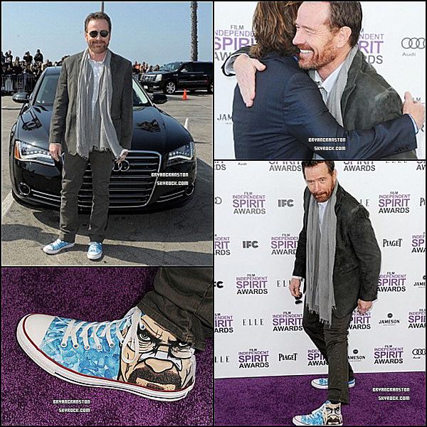 . 25 février, Bryan Cranston était au Film Independent Spirit Awards avec des chaussures.. TOP ! .