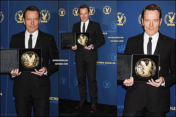 . 28/01/2012 Bryan était au : 64th Annual Directors Guild Of America Awards - Press Room .