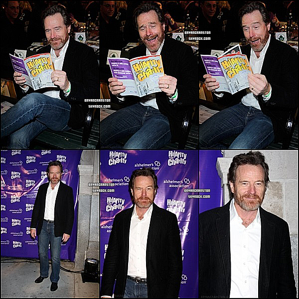 . 13/01/2012 Bryan était au : Hilarity For Charity Benefit .