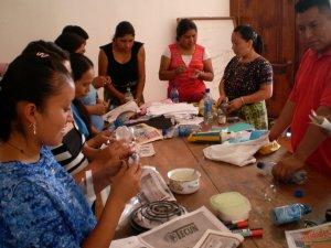 Fotos del taller en Rabinal