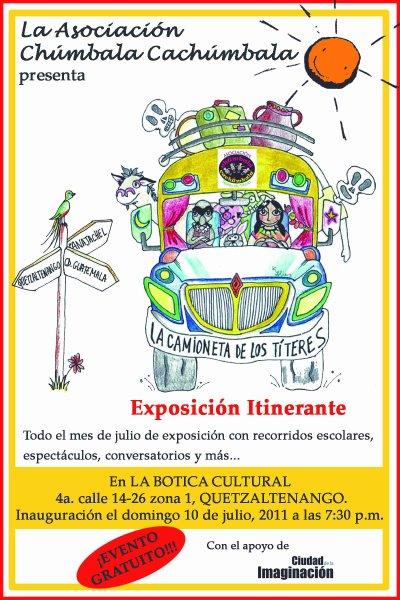 """""""La camioneta de los titeres"""" a Xela"""