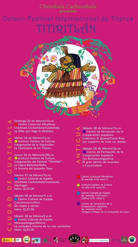 Programacion del Festival Titiritlan