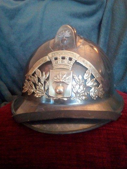 casque de sapeur pompier du District Urbain d'Angers (49) , modèle 1933