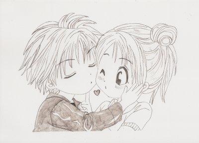 Couple dessins de manga - Dessin manga couple ...