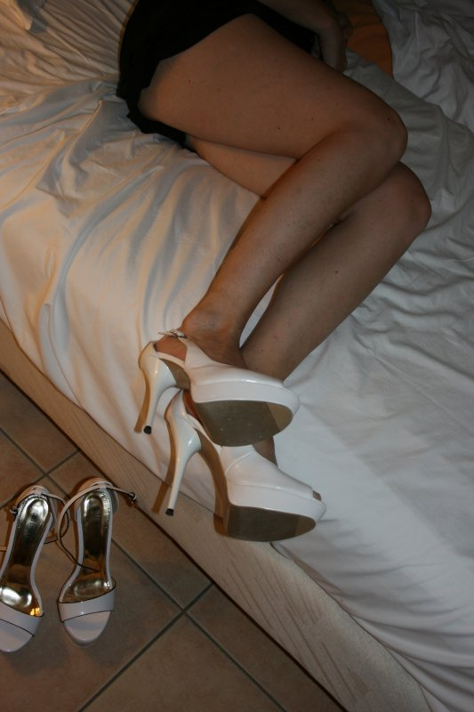 Mes Escarpins Blanc aux pieds