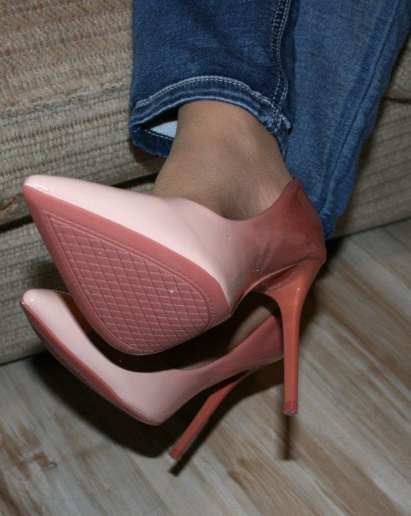 Escarpins Rose Bi Couleur