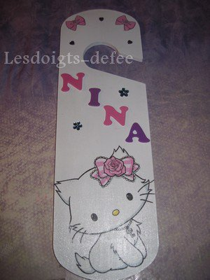 Plaque poignée de porte Charmmy Kitty