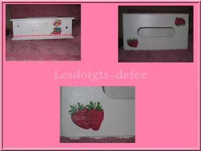 Boite à mouchoirs Charlotte aux fraises